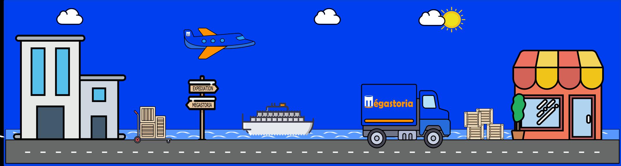 La livraison avec Megastoria