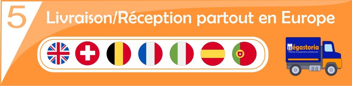 Livraison/Réception partout en europe